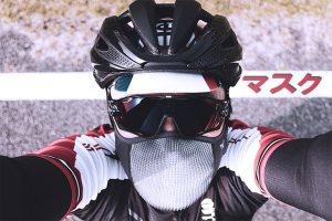 ロードバイクでマスク
