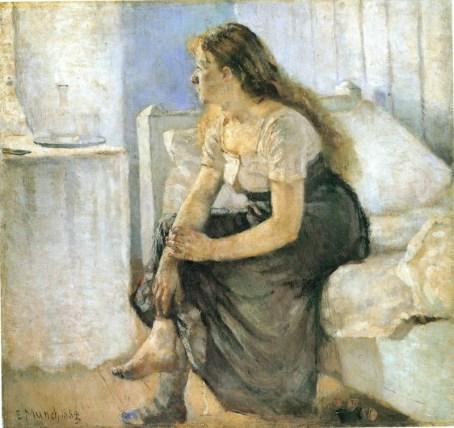 """""""Il mattino. Ragazza sul bordo del letto"""" - Edward Munch"""