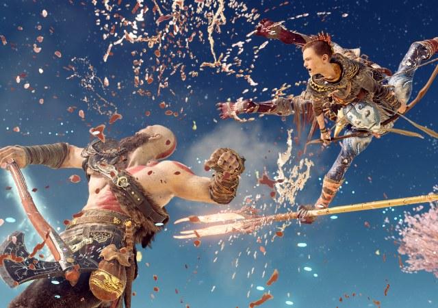 god of war kratos son fighting