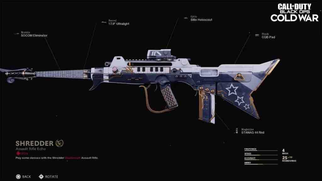 Keyboard assault rifle