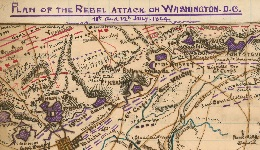 Map of Confederate Attack on Washington DC