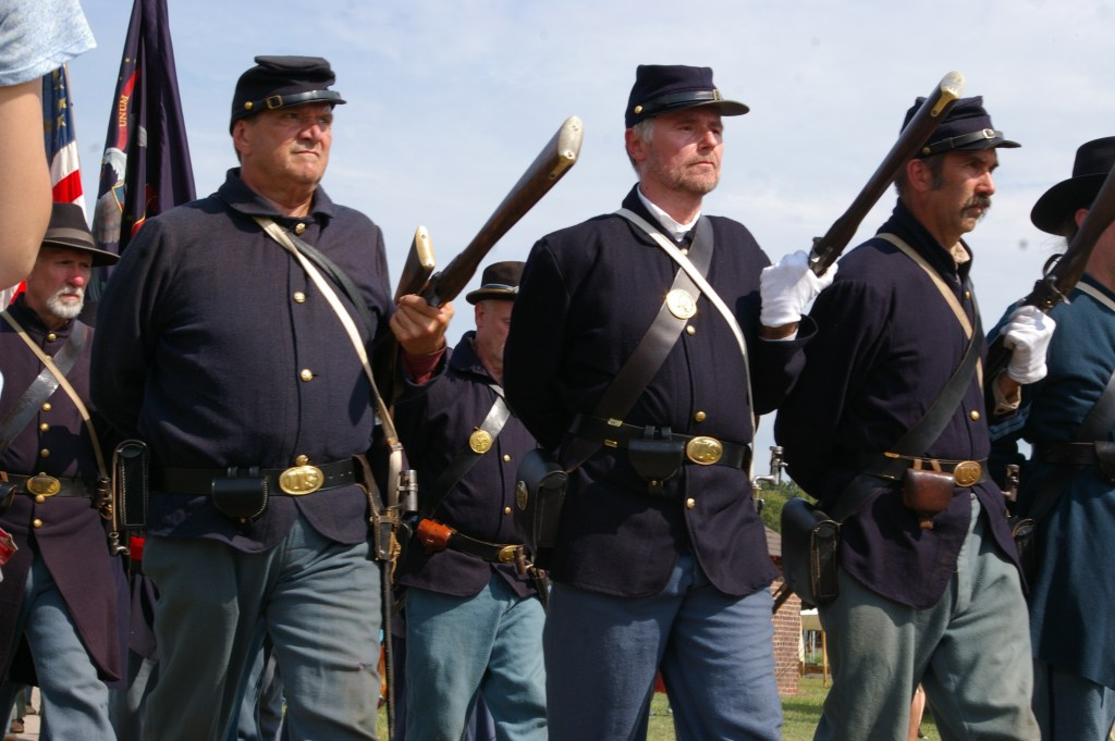 Union Soldiers at Reverse Arms