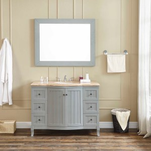 48 single vanity with travertine counter top vanity luxury vanity