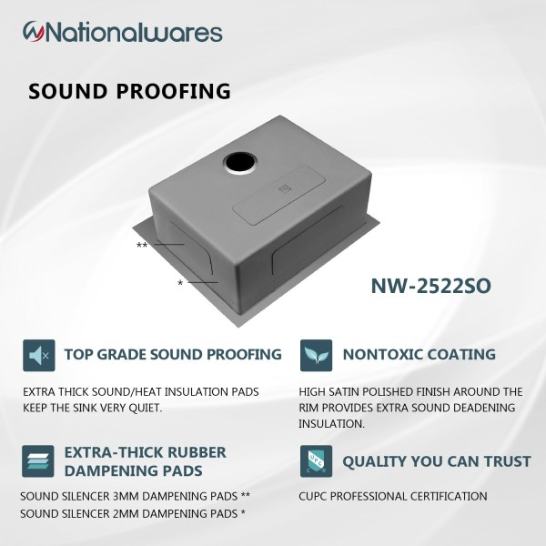 high quality sound proof kitchen counter sink glen avon, ca