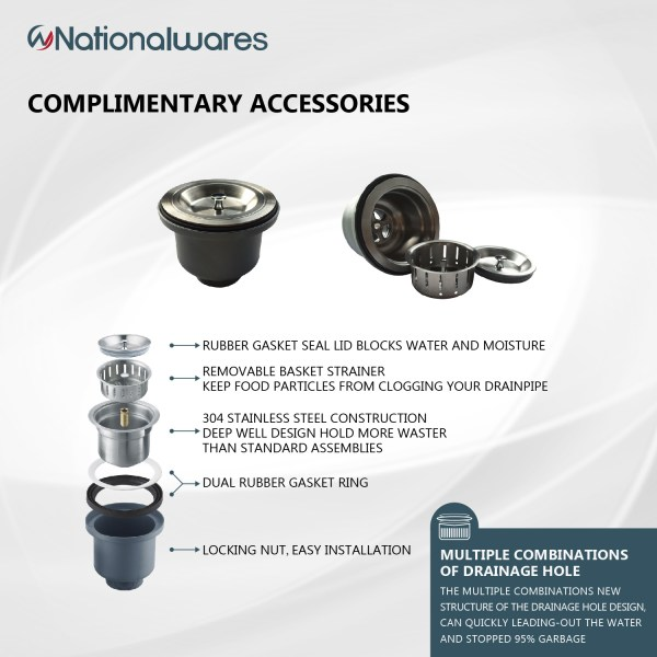 complimentary nationalwares accessories for kitchen counter sink pedley, ca
