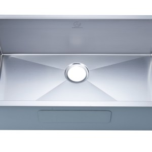 stainless steel sink with design elements rancho mirage, ca