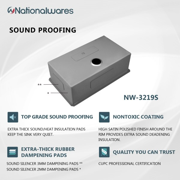 nationalwares sound proofing technology for kitchen sinks palm springs, ca