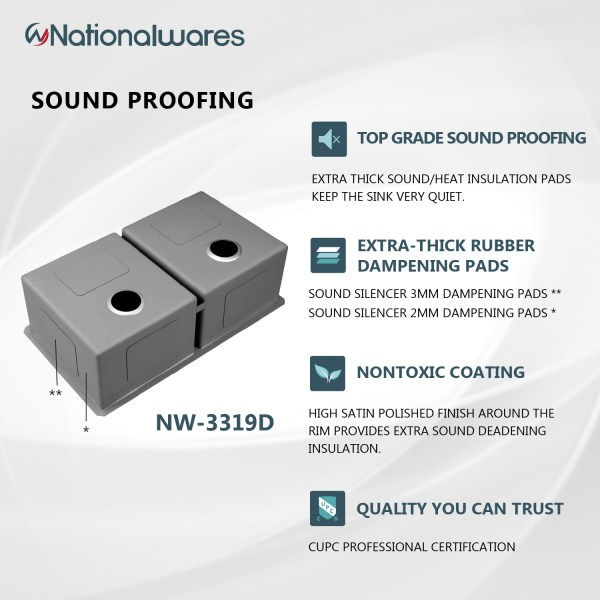 murrieta, ca non-toxic coating for sound proof sink pads