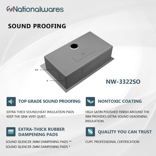 beaumont ca quality sound proof sinks