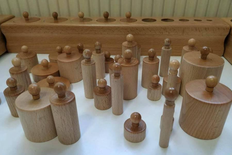 Cilindrii incastru Montessori