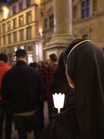 Fiaccolata di luce e veglia di preghiera contro tutte le marginalità e l'omotransfobia di Firenze del 17 maggio 2016