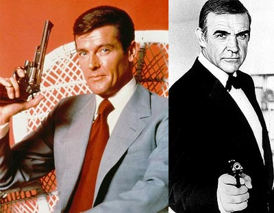Whilst playing Bond, Roger Moore naturally wore a tie however Sean Connery (a Scot) had to wear a bowtie.