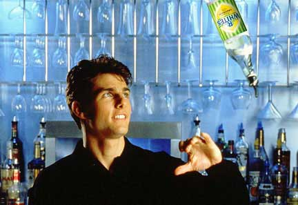 """Tom Cruise prepares a Lager Top, his signature cocktail in the film """"Cocktail"""""""