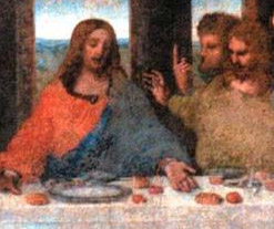 """And Jesus spake thus unto the waiter """"I haveth not cutlery"""" and the waiter thus respondeth """"You're too early mate, the English don't invent cutlery for another 1800 years or so"""""""