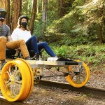 Pedal Through Unused Train Tracks with Electric-Powered Railbikes