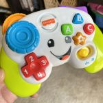 Today I learned my baby's Fisher-Price gamepad accepts the Konami Code