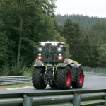 Watch This Giant 500-HP Tractor Take on the 'Green Hell' Race Track