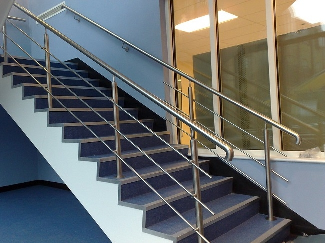 Tips Of Installing And Cleaning Stainless Steel Handrails   Steel Handrails For Stairs   Glass   Hand   Stainless Steel   Metal   Wall Mounted