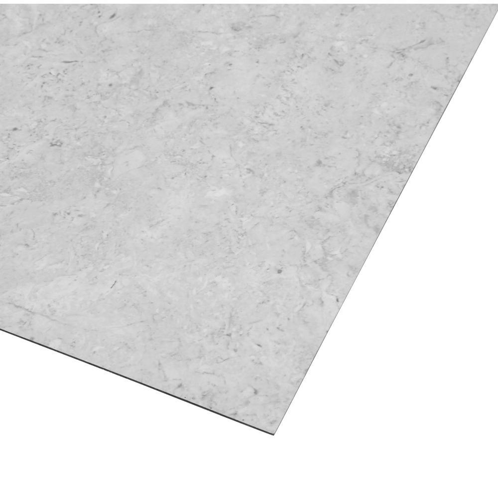 trafficmaster 18 x18 peel stick white fossil vinyl tile 27 sq ft case check back soon