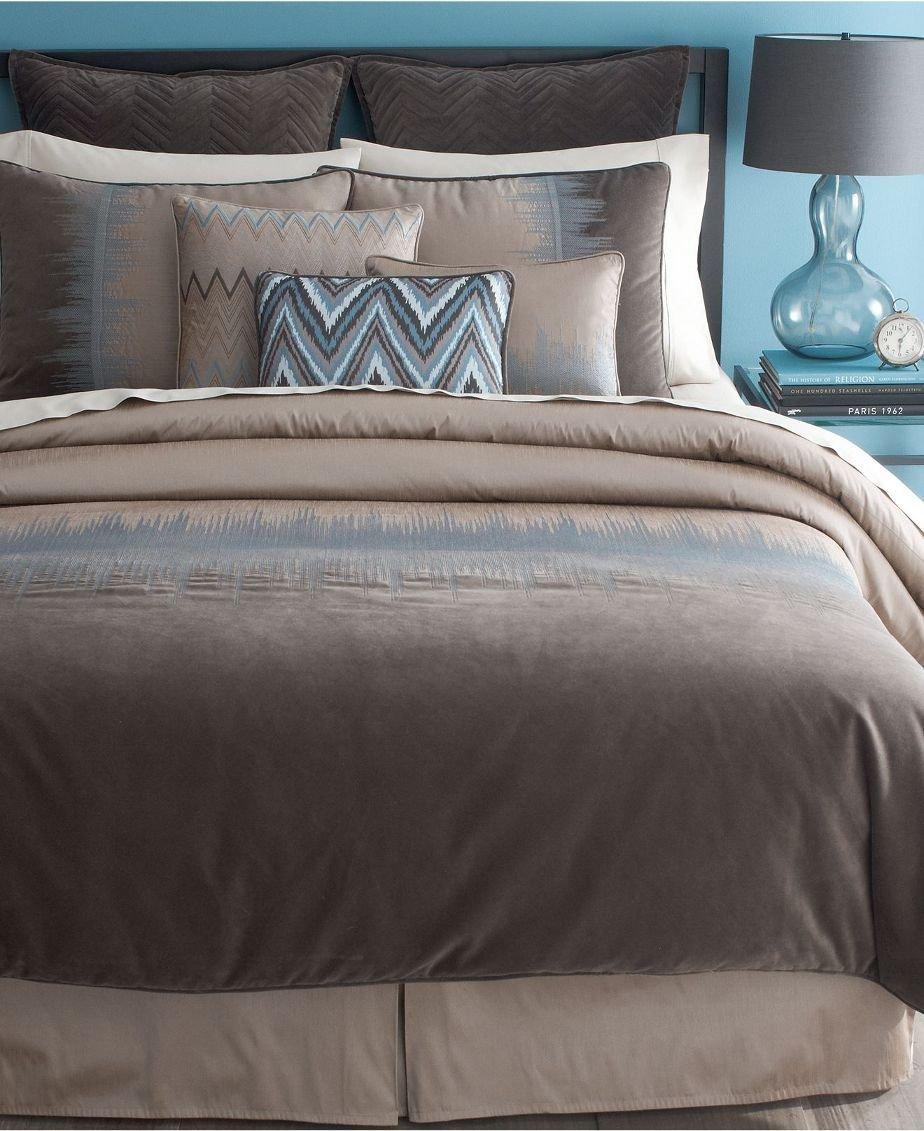 bryan keith jackson 9 piece reversible comforter set taupe blue king check back soon