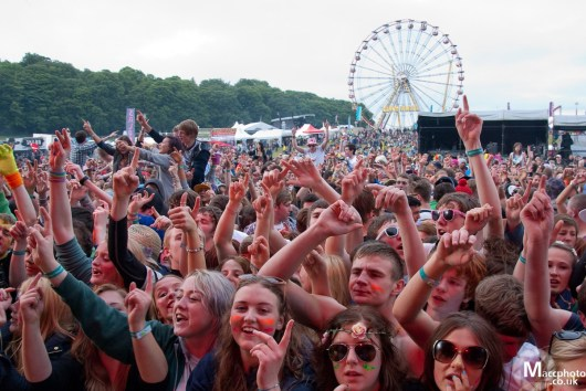 Festival goers at 2012