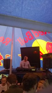 Ally Ridgers playing the Red Bull 'stage'.