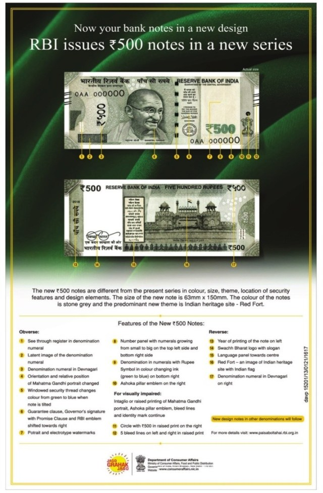 Rs 500 new note features
