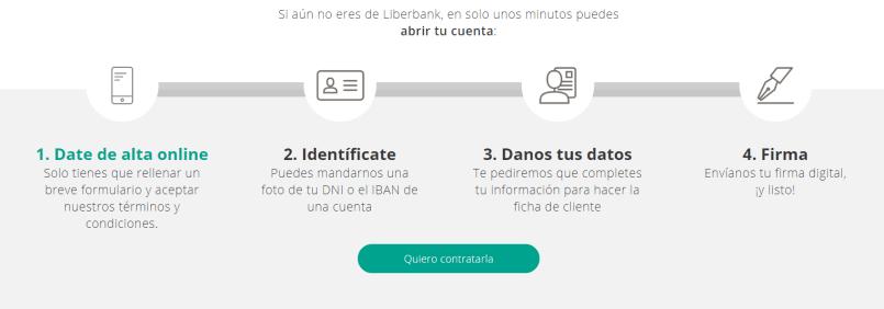 como abrir la cuenta online sin de liberbank