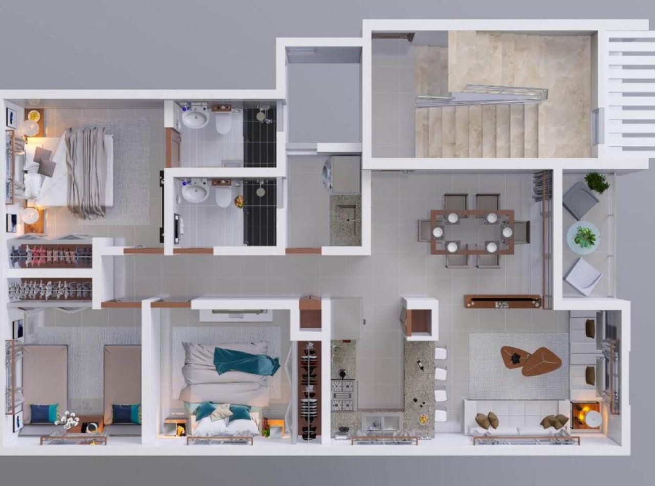 Residencial BLANCO, Apartamentos en Gurabo, Santiago.