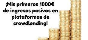 1000 Euros ingresos pasivos crowdlending