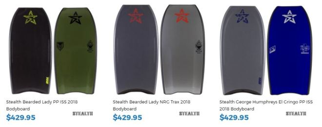 Stealth Bodyboards for sale at Inverted Bodyboard Shop