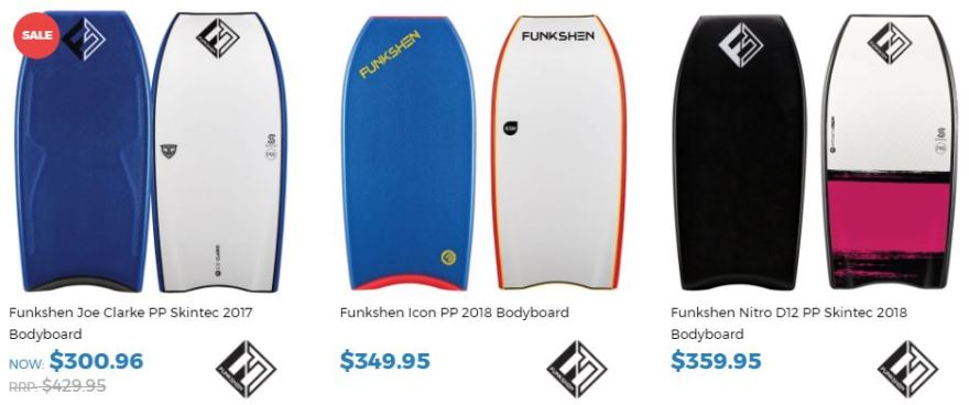 Funkshen Bodyboards for sale at Inverted Bodyboardshop