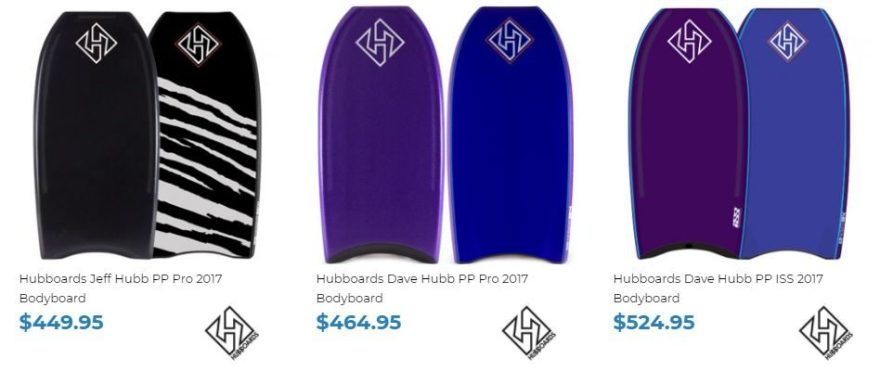 Hubboards for sale at Inverted Bodyboard Shop