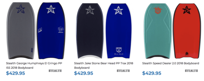 Stealth Bodyboards for sale at Inverted