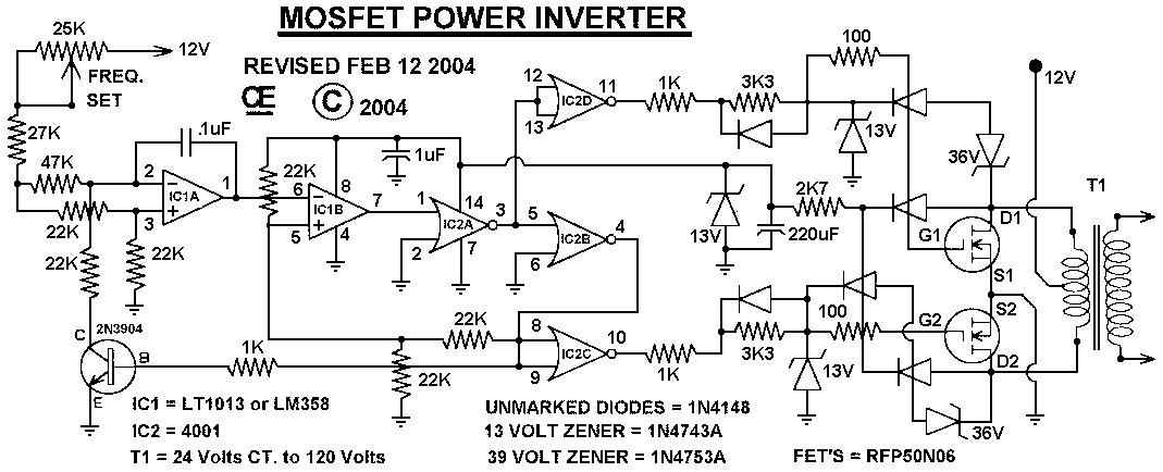 MOSFET Power Inverter 500W using RFP50N06