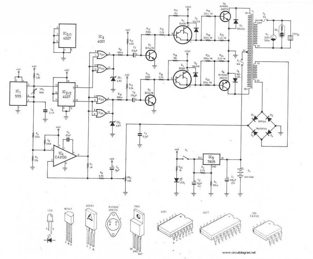 300w Power Inverter Circuit Diagram