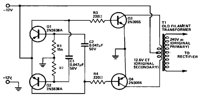VDC To VAC Inverter Inverter Circuit And Products - Circuit diagram of an inverter