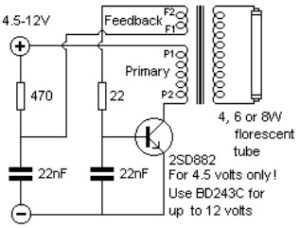 Inverter for florescent lamps