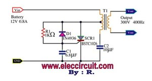 SCR mini power inverter circuit diagram