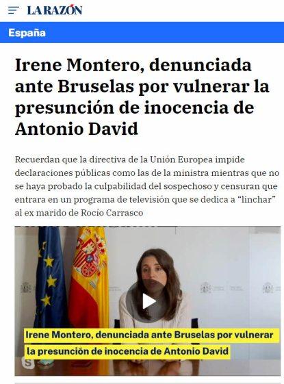irene-denunciada% - Irene Montero, denunciada por veinte asociaciones