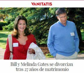 DIVORCIO-GATES% - Se divorcian Bill y Melinda Gates ..  notición para la prensa amarilla,  salmón y rosa