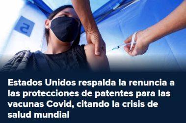 VACUNAS-PUBLICAS% - Caidas en bolsa de los laboratorios por posible nacionalización de patentes de vacunas