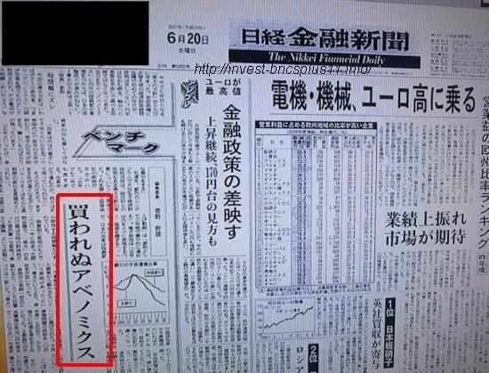 アベノミクス-2007年日本金融新聞