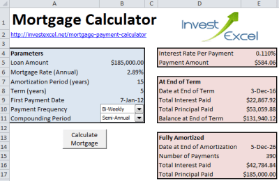 Mortgage Payment Calculator