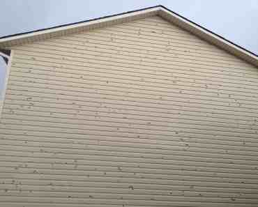 hail damage siding