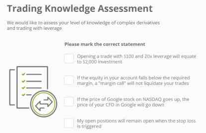 knowledge test eToro