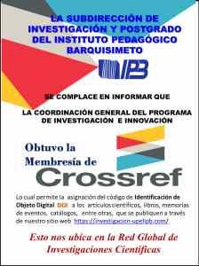 La Coordinación de Investigación e Innovación obtiene la membresía de CROSSREFF