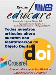 Todos los artículos de Educare cuentan con identificación de objeto digital DOI