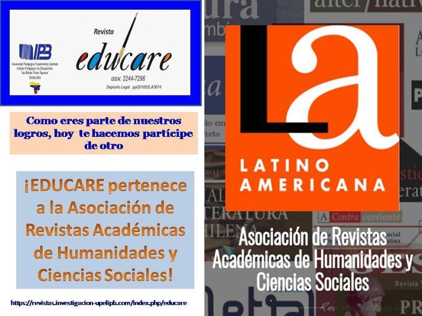 EDUCARE pertenece a la Asociación de Revistas Académicas de Humanidades y Ciencias Sociales