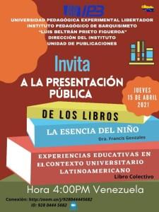 Presentacion pública libros 2021